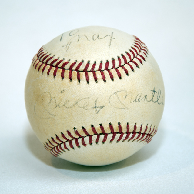 Mickey Mantle Autograph Baseball 1981