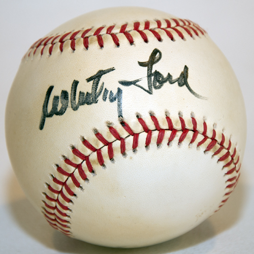Whitey Ford Autograph Baseball