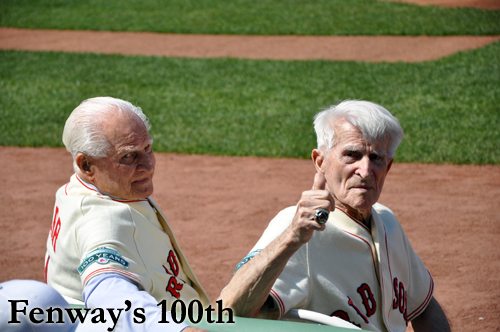 Johnny Pesky, Bobby Doerr at Fenway's 100th