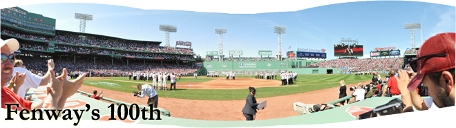 Fenway Park 100th Anniversary Game, April 20, 2012